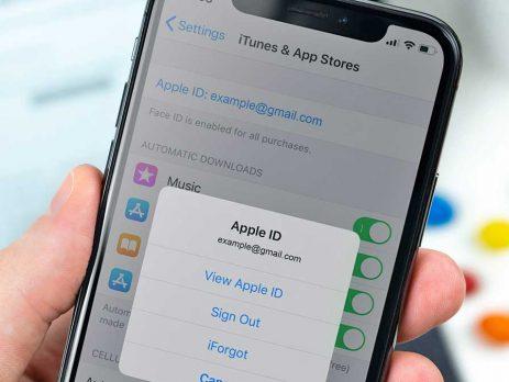 حذف اپل آیدی