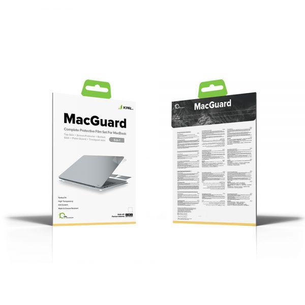 محافظ ضد خش مک بوک ایر 13 اینچی نقره ای Jcpal مدل MacGuard Five-in-One