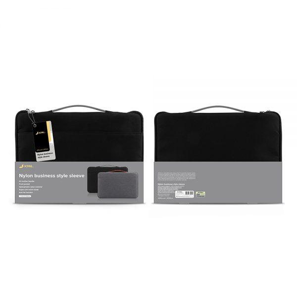 کیف مک بوک JCPal رنگ مشکی مدل Nylon business