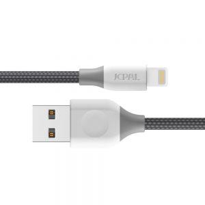 کابل تبدیل USB به لایتنینگ طوسی جی سی پال مدل Linx Braided
