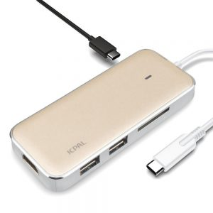 JCPAL LINX USB-C to HDMI Adapter with 2 USB Ports